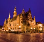 Stadhuis, Wroclaw in Polen Stock Foto's