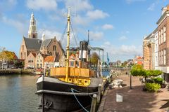Stadhuiskade Maassluis, Nederländerna Royaltyfria Foton