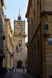Stadhuisklokketoren Aix-en-Provence, Frankrijk stock fotografie