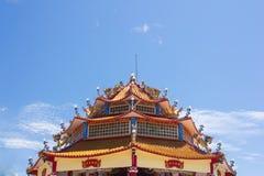 Stadhuisstandbeeld van Guanyin-tempel drijvend eiland Stock Afbeeldingen