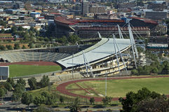 Stadia of Johannesburg. Three stadia in line in the Doornfontein suburb of Johannesburg, ready for world cup training and events Royalty Free Stock Photos