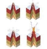 Stadien eines Vulkans Lizenzfreie Stockfotografie