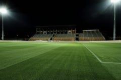 Stadio alla notte Fotografie Stock Libere da Diritti