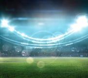 Stadio alle luci ed ai flash 3d Fotografia Stock Libera da Diritti