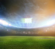Stadio alle luci ed ai flash 3d Immagine Stock