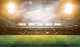 Stadio alle luci ed ai flash 3d illustrazione di stock