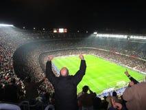 Stadio ammucchiato, Spagna del FC Barcelona immagini stock libere da diritti