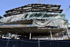 Stadio continuo dei guerrieri del Golden State il nuovo in costruzione, 2 fotografia stock