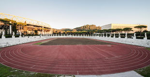 Stadio dei Marmi, Foro Italico, at sunrise, Rome. Italy Royalty Free Stock Image