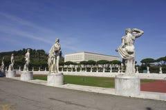 Stadio dei Marmi. Sports stadium built in the 1920's Foro Italico, Rome Italy Stock Images