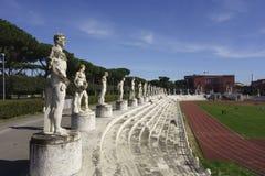 Stadio dei Marmi. Sports stadium built in the 1920's Foro Italico, Rome Italy Royalty Free Stock Photo