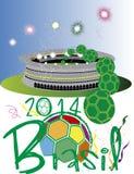 Stadio 2014 del Brasile Immagini Stock