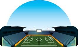 Stadio del campo di calcio di calcio di vettore Fotografia Stock