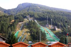Stadio del Trampolino, Pragelato, Italy Royalty Free Stock Photos