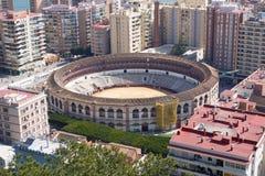 Stadio dell'anello del toro di Malaga. Fotografia Stock