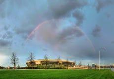 Stadio dell'arena di Donbass nella primavera di 2012 Immagini Stock Libere da Diritti