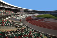 Stadio della dinamo dopo ricostruzione prima dei giochi europei I I immagine stock