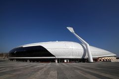 Stadio della dinamo dopo ricostruzione prima dei giochi europei I I nel 2019 immagine stock libera da diritti