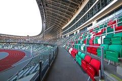 Stadio della dinamo dopo ricostruzione prima dei giochi europei I I nel 2019 fotografia stock libera da diritti