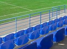 Stadio della tribuna e campo di rugby Fotografia Stock Libera da Diritti
