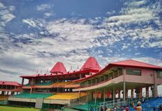 Stadio di associazione del cricket di Himachal Pradesh in Dharamshala Fotografie Stock