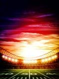 Stadio di calcio americano fotografia stock