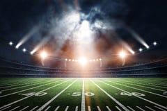Stadio di calcio americano, rappresentazione 3d fotografia stock