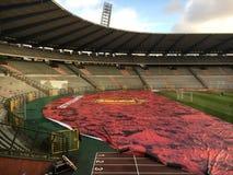 Stadio di calcio di calcio fotografia stock