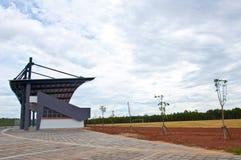 Stadio di calcio vuoto Immagini Stock