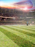 Stadio di Footbal Fotografie Stock Libere da Diritti