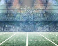Stadio di football americano capriccioso Fotografia Stock Libera da Diritti