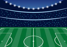 Stadio di football americano con le tribune riempite royalty illustrazione gratis