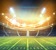 Stadio di football americano 3D Fotografia Stock