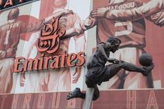 Stadio di football americano degli emirati dell'arsenale - Dennis Bergkamp Fotografia Stock