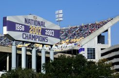 Stadio di football americano del Death Valley del LSU Fotografie Stock