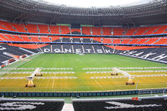 Stadio di football americano dell'arena di Donbass. Fotografie Stock