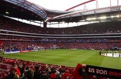 Stadio di football americano di Benfica, gioco di calcio della lega dei campioni Fotografie Stock