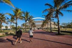 Stadio di football americano Durban delle palme dei corridori Fotografia Stock