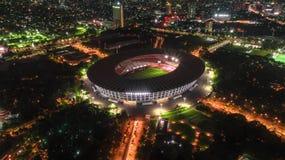 Stadio di football americano Jakarta Indonesia di Karno del tappo di Gelora fotografie stock libere da diritti