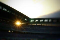 Stadio di football americano nello stile vago fotografia stock libera da diritti