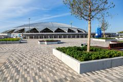 Stadio di football americano di Samara Arena immagini stock libere da diritti