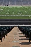 Stadio di football americano vuoto Fotografie Stock Libere da Diritti