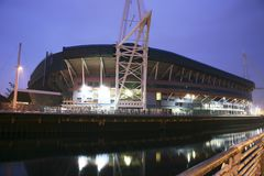 Stadio di millennio di Cardiff Immagine Stock