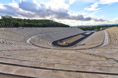 Stadio di Panathenaic, kallimarmaro a Atene Fotografia Stock Libera da Diritti