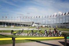 stadio di pattinaggio di velocità dell'Adler-arena XXII ai giochi di olimpiade invernale Fotografie Stock Libere da Diritti