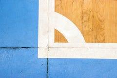 Stadio di sport dell'interno della corte di Futsal con il segno Immagini Stock