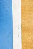 Stadio di sport dell'interno della corte di Futsal con il segno Immagine Stock Libera da Diritti