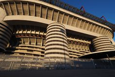 Stadio Giuseppe Meazza commonly known as San Siro, is a football stadium in Milan, Italy, which is the home of A.C. Milan and Int. Er Milan Royalty Free Stock Image