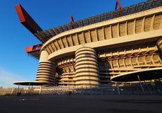 Stadio Giuseppe Meazza commonly known as San Siro, is a football stadium in Milan, Italy, which is the home of A.C. Milan and Int. Er Milan Stock Image