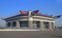 The Stadio Giuseppe Meazza, commonly known as San. Siro in Milan, Italy Stock Photography